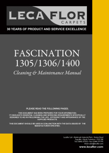 Cleaning & Maintenance Manual